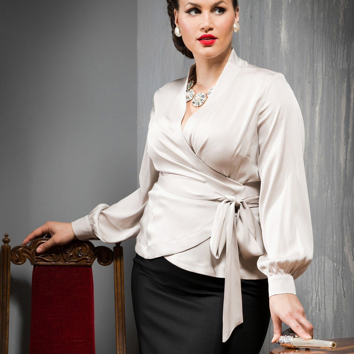 Image of UPPER EAST SIDE SILK BLOUSE 3 (other options available)