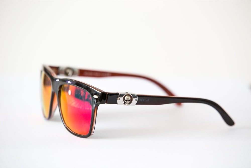 Image of MCJ SUNGLASSES BLACK/RED RED LENS