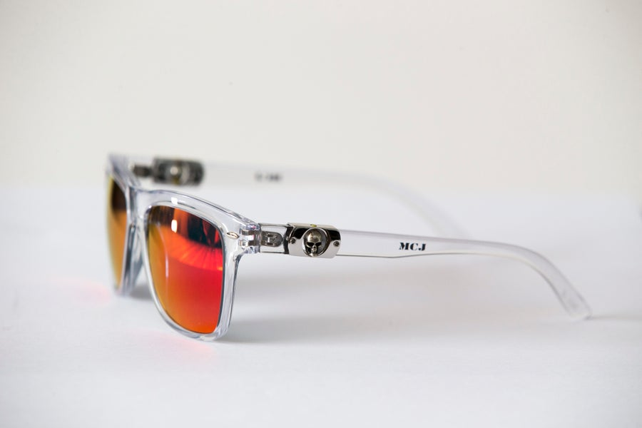 Image of MCJ SUNGLASSES TRASPARENT ORANGE LENS