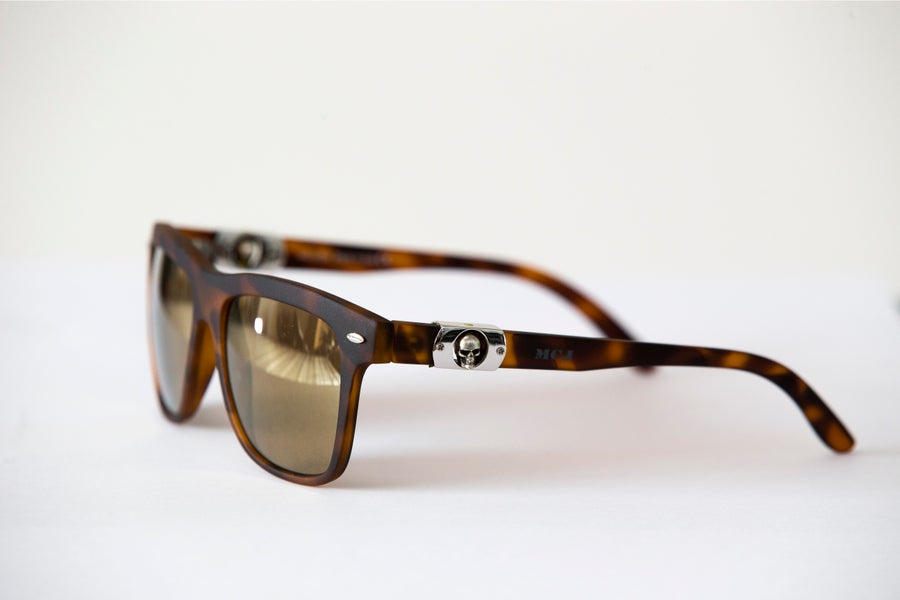 Image of MCJ SUNGLASSES BROWN TORTUGA BROWN LENS