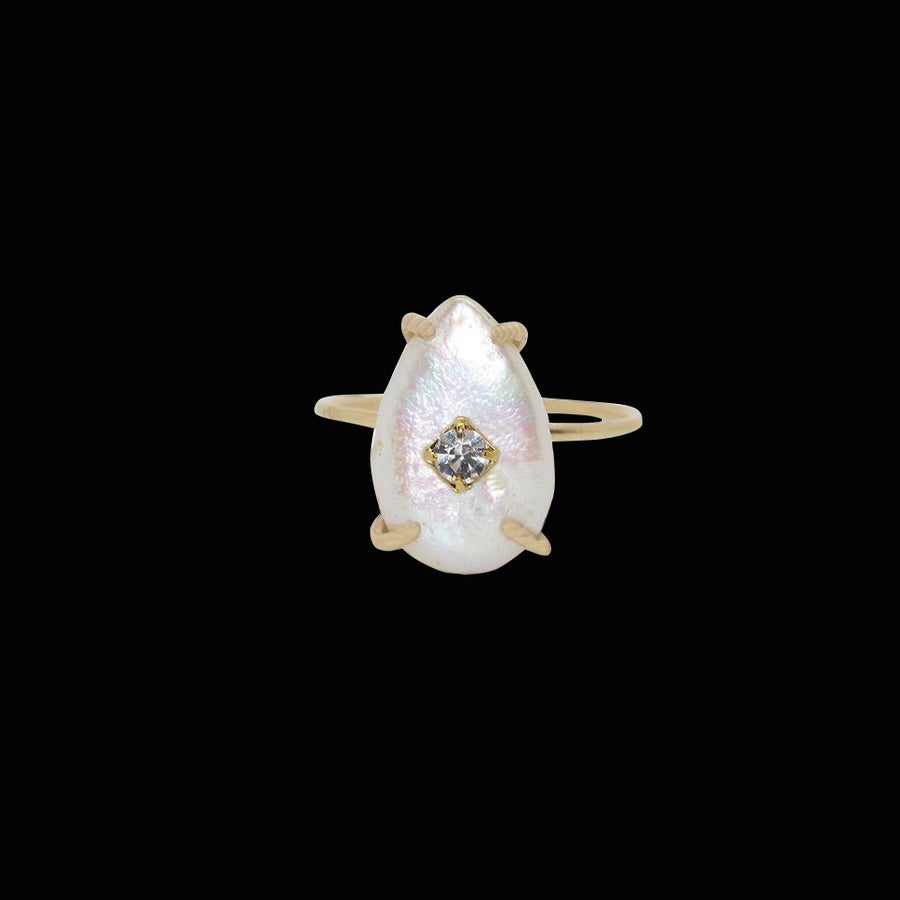 Image of Mother of Pearl Drop Ring