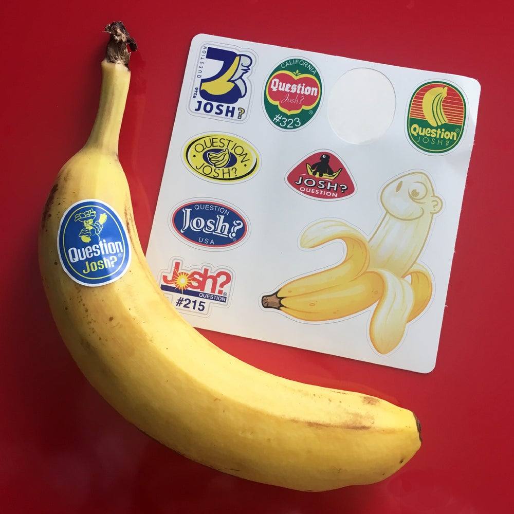 Image of Banana Label Sheet