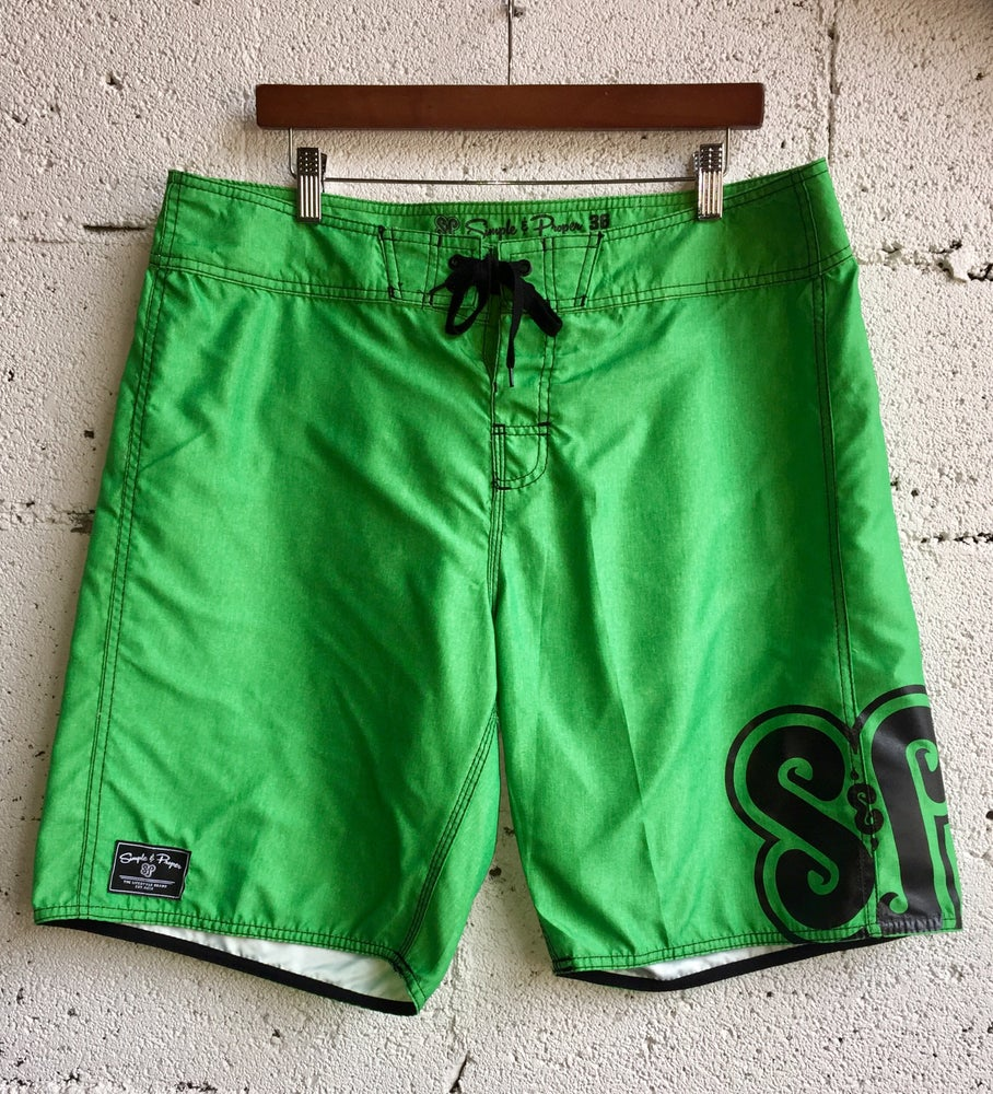 """Image of S&P-""""Branded"""" BoardShort (Heather Green)"""