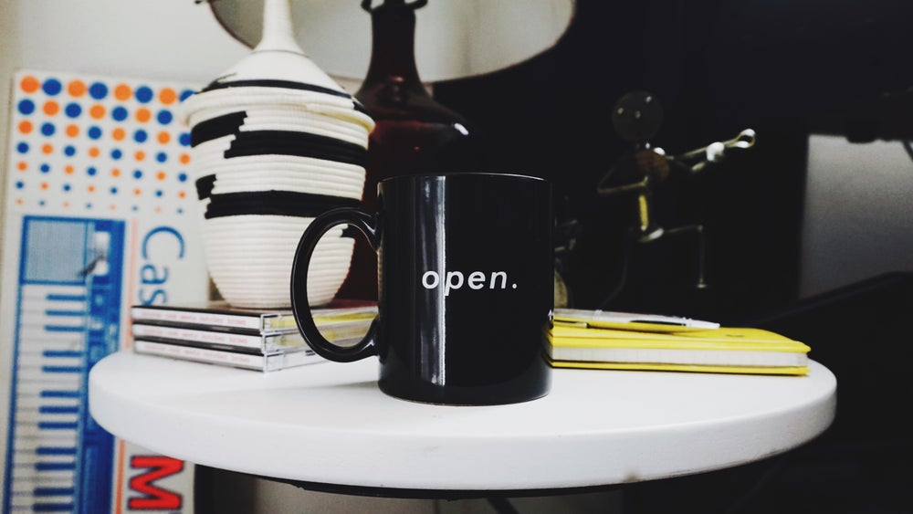 Image of open. mug