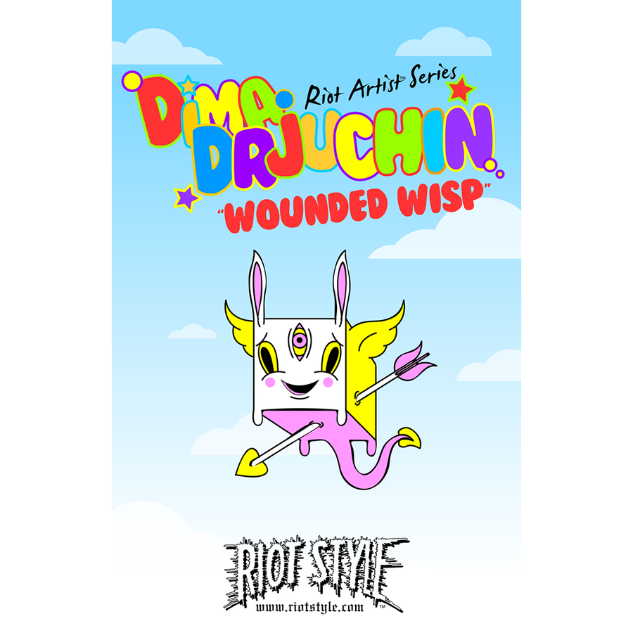"Image of Riot Style x Dima Drjuchin ""Wounded Wisp"" Lapel Pin"
