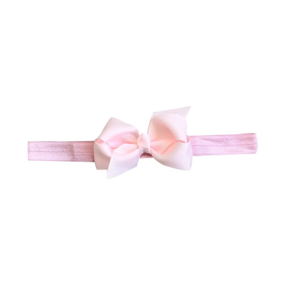 Image of Powder Pink Baby Bow Headband