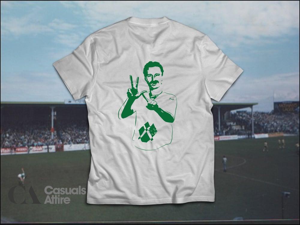 Image of YLT, Young Leith Team, Hibs, Hibernian, Begbie Brand NewAsh Grey t-shirts.