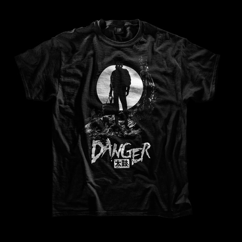 Image of Danger Double Sided 太鼓 T-shirt / Embroidered label