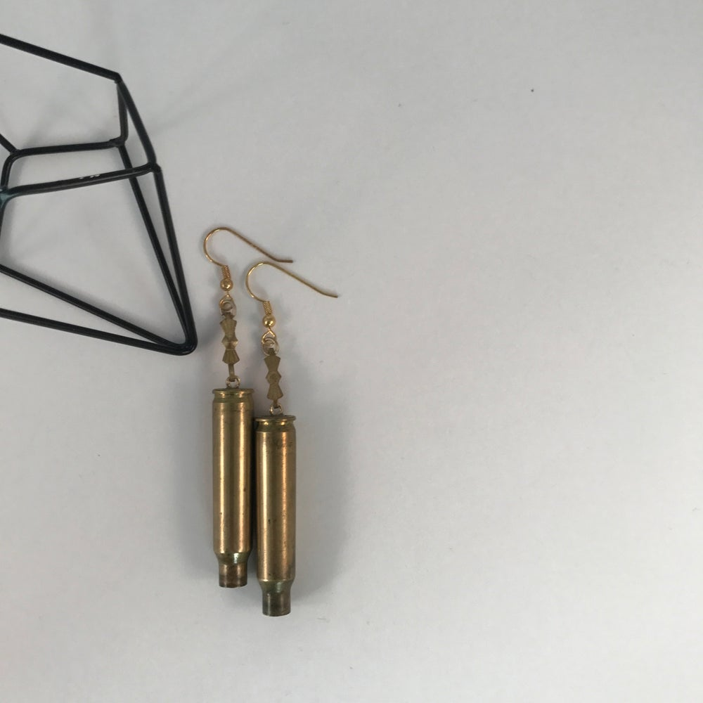 Image of Gold Bullet Earrings