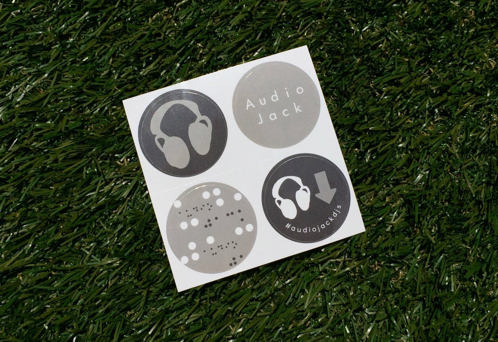 Image of Audio Jack Sticker Set