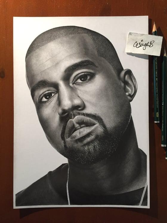 Image of Kanye West (Print)