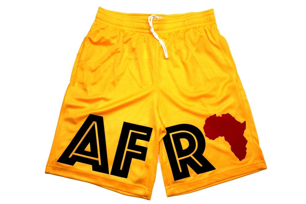 "Image of World Tour ""AFRICA"" Shorts Gold"