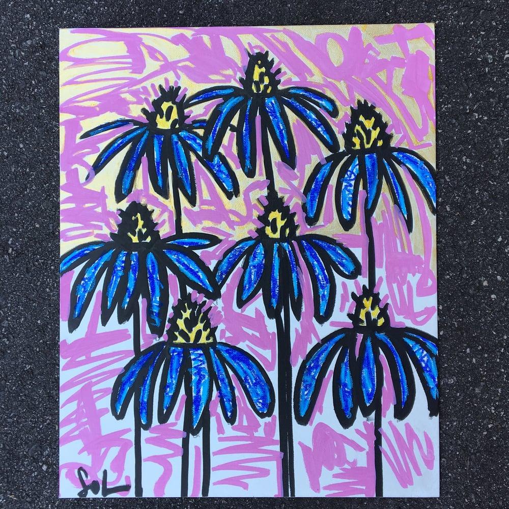 Image of Blue Daises