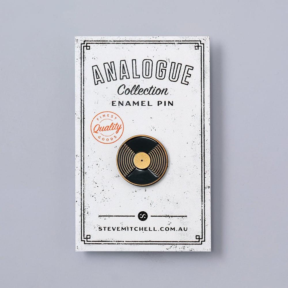 Image of Vinyl Record Enamel Pin