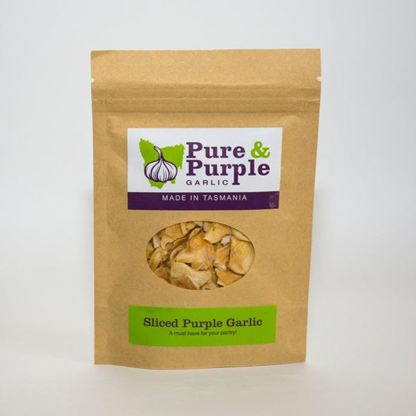 Image of Sliced Purple Garlic Pouch