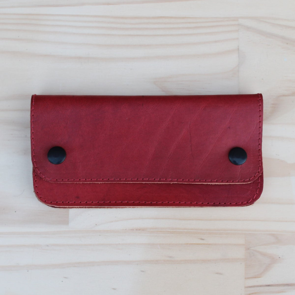 Image of Flat Wallet - Crimson