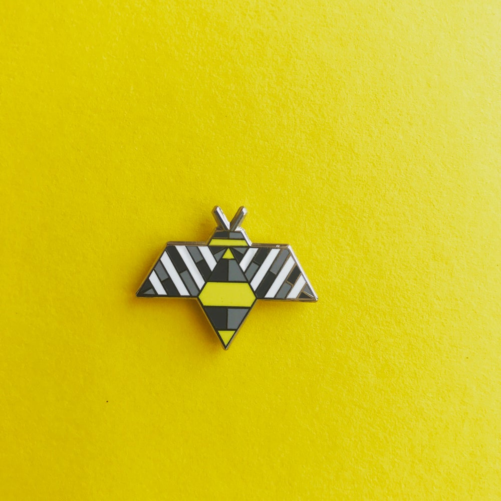 Image of Bzzzzzz Bee Hard Enamel Pin Brooch Badge by WholeCircleStudio