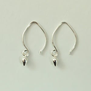Image of Tiny sterling silver earrings dangle drop