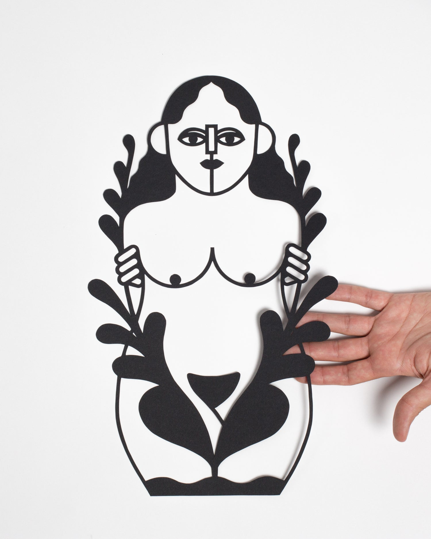 Image of PAPERCUT GIRL IN THE FOREST
