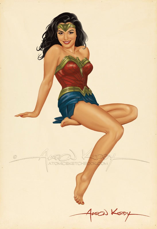 Image of Wonder Woman (Gal Gadot) pin up print