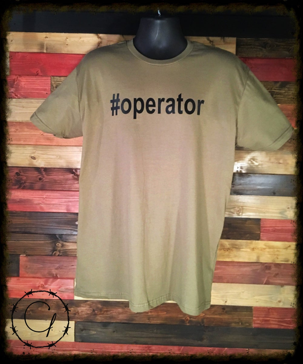Image of #OPERATOR t-shirt