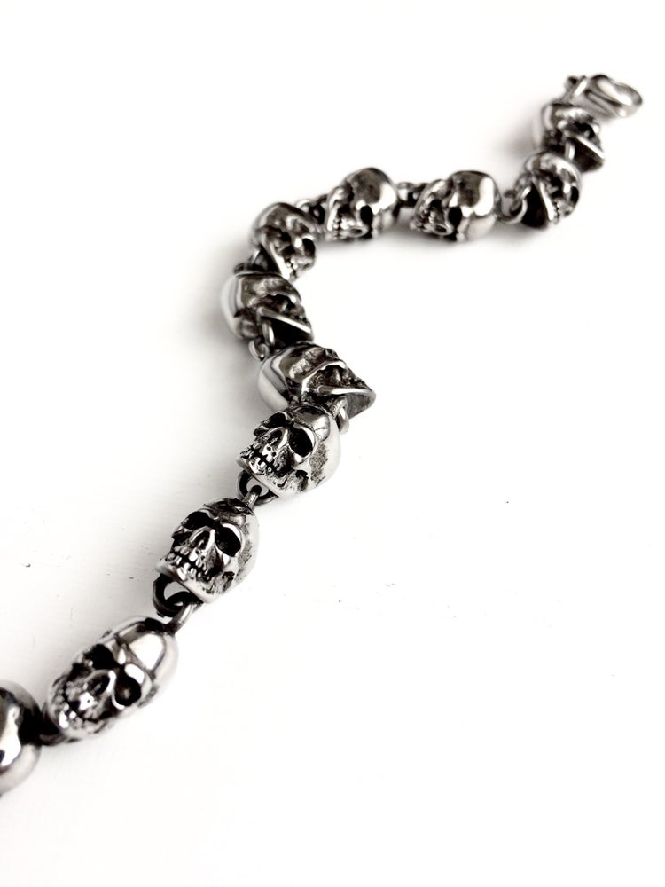 Image of SOLID SKULL HEAD BRACELET