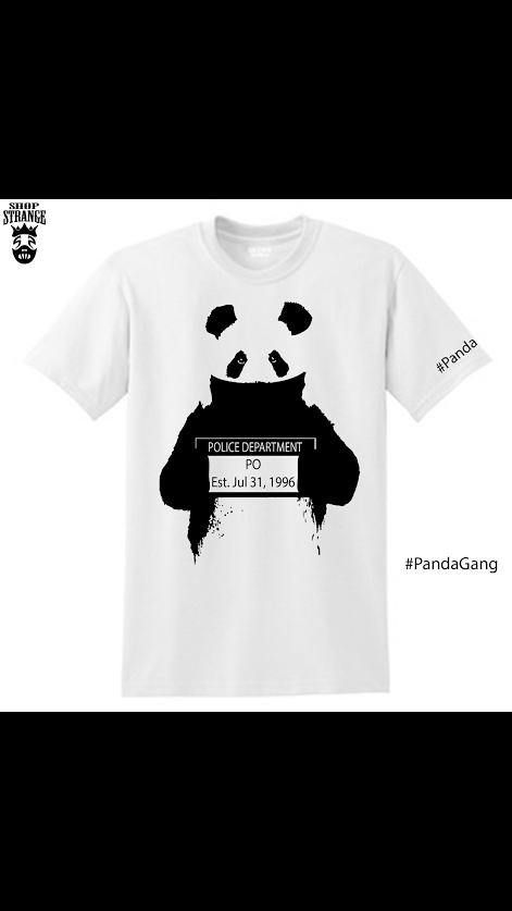 Image of Po the Rapper panda mugshot T