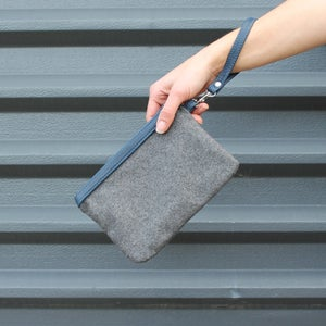 Image of Strapped Clutch - Charcoal