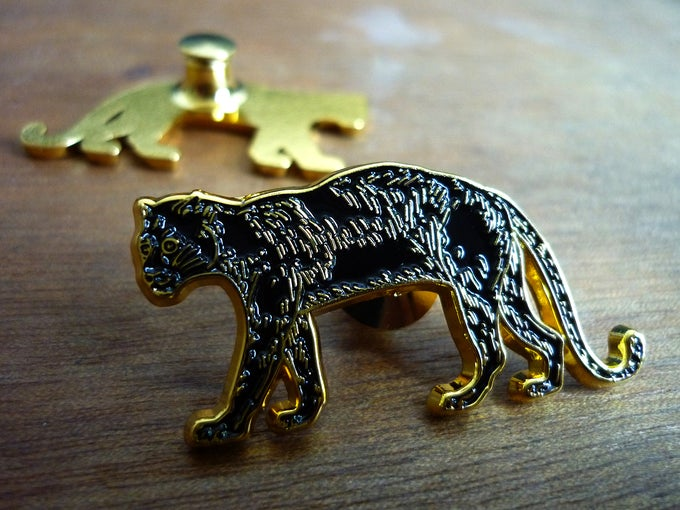 Image of Black Leopard pin