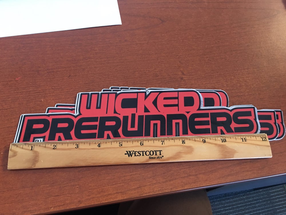 """Image of 12"""" Wicked Prerunners Sticker"""