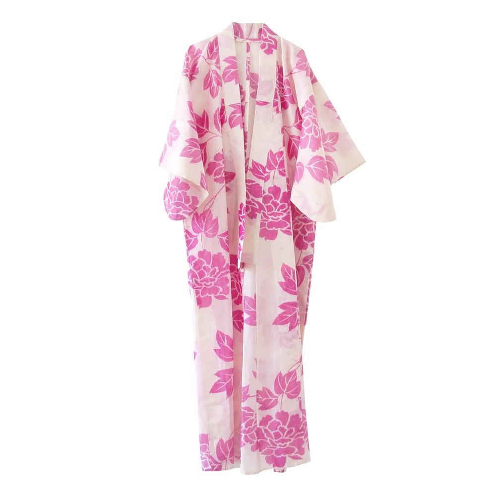 Image of blomster kimono af silke cifon