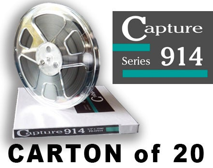 "Image of CARTON of CAP914 1/4"" X1200' 7"" Plastic Reel Hinged Box"