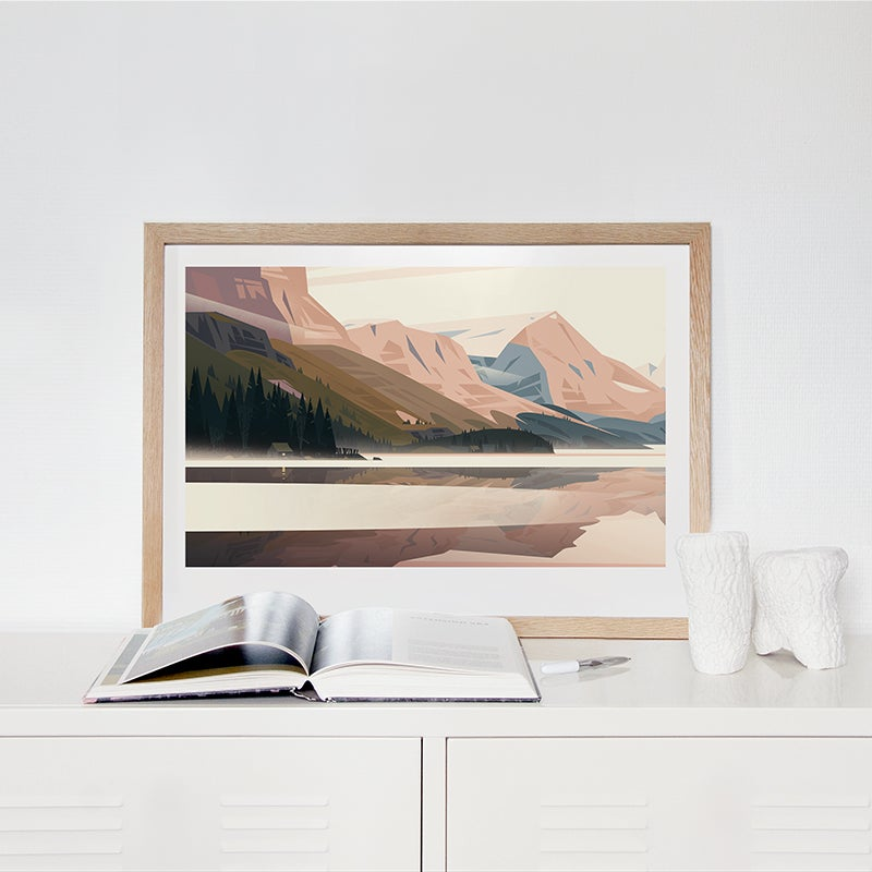 Image of LAKE IN THE ROCKIES