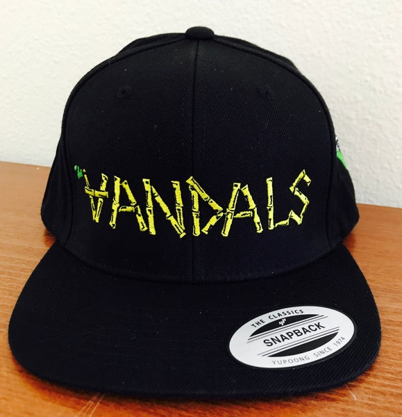 "Image of Classic ""Vandals"" Snapback Hat with V-Gun Side Embroidery"