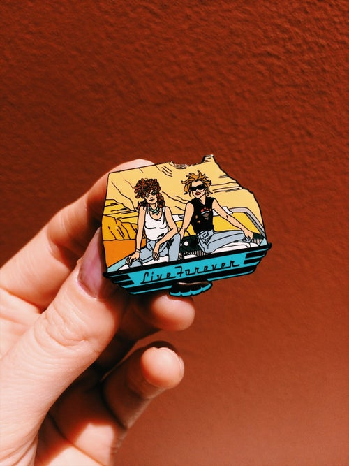 Image of Thelma & Louise enamel pin