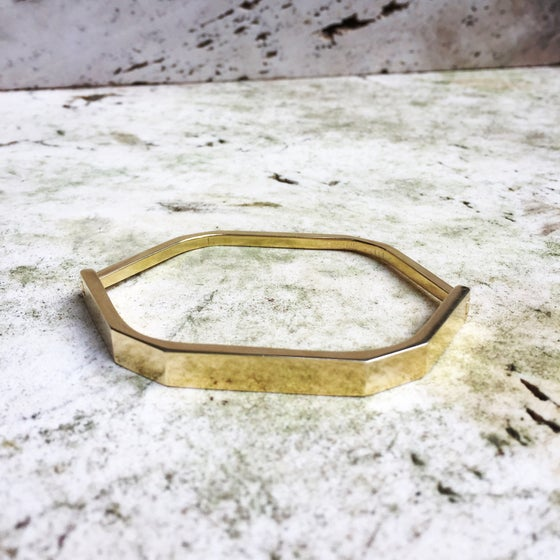 Image of Faceted hinge cuff