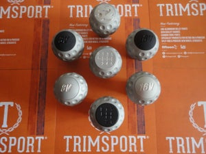 "Image of Trimsport Matte Grey LIMITED EDITION VW Golf Jetta Scirocco Mk1 Mk2 ""Golfball"" Dimpled Gearknob"