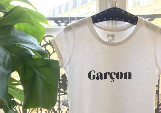 "Image of T-SHIRT BLANC ""GARÇON"""