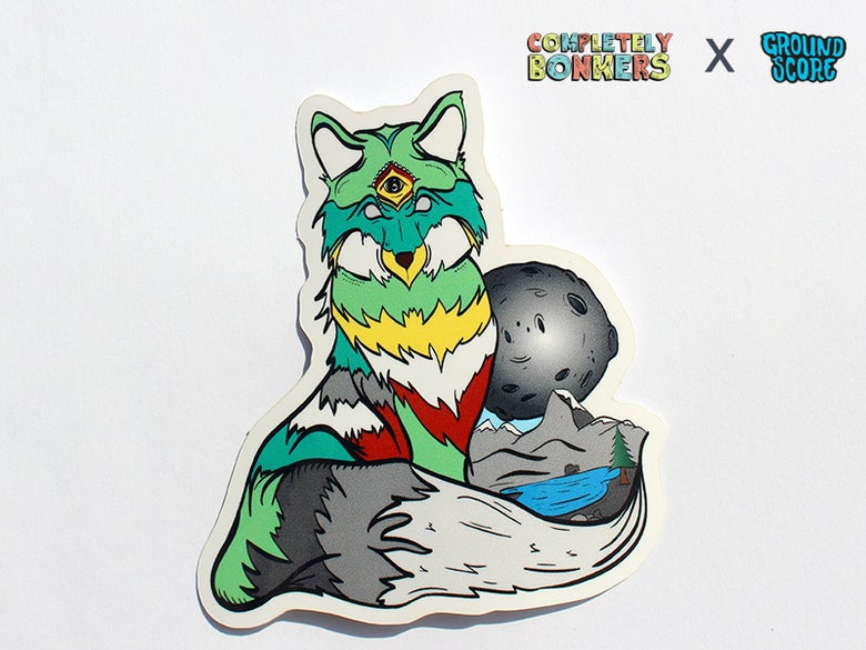 Image of Completely Bonkers - Zen Fox Sticker (5-Pack Combo)