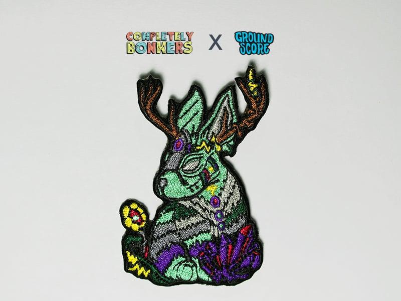 Lepus Cornutus Patch (Dark Green) - Mythical Creature Series