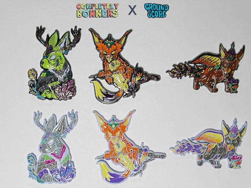 Mythical Creatures Series Pin Set (6 Pins)