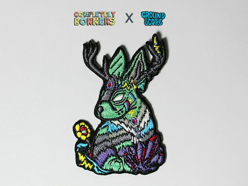 Image of Lepus Cornutus Patch (Light Green) - Mythical Creature Series