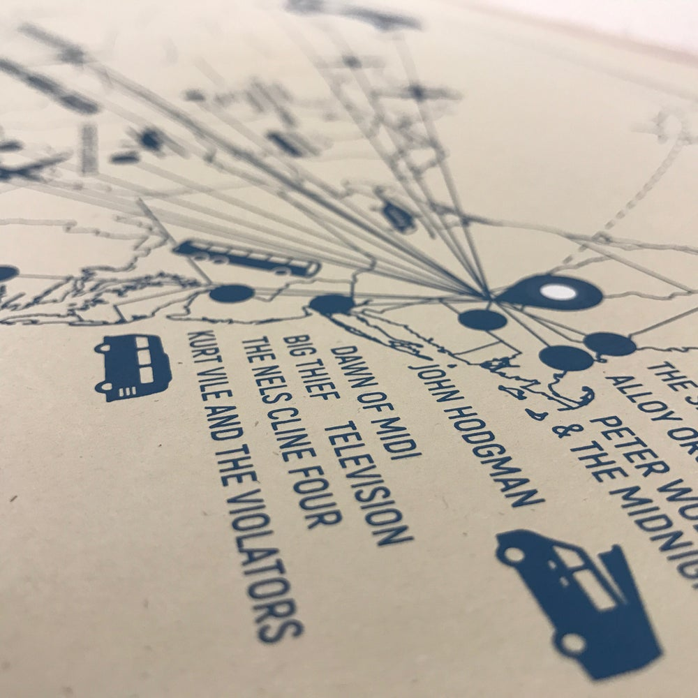 Wilco's Solid Sound Travel Map Poster, 2017