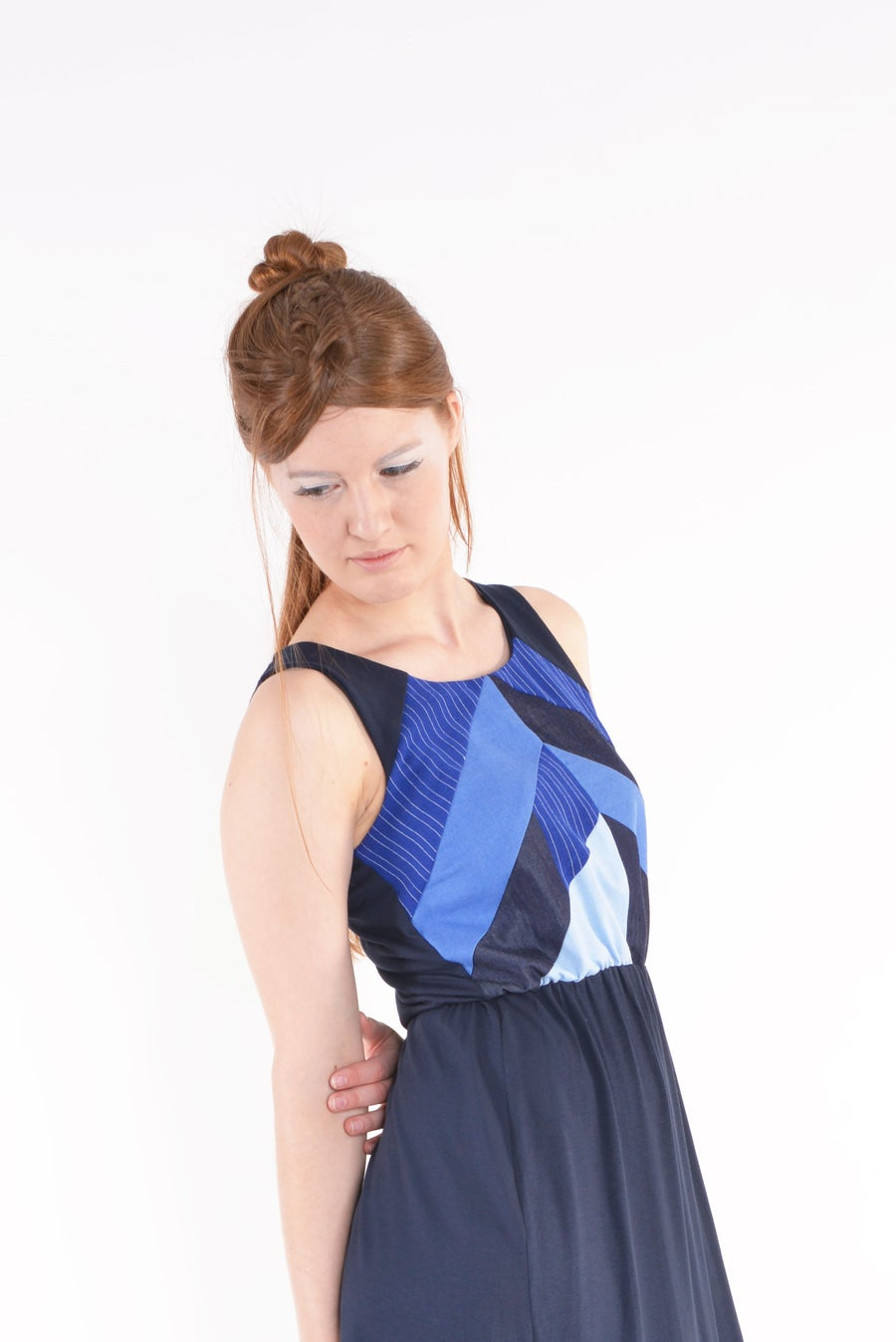 Image of Dress FINI blue mix