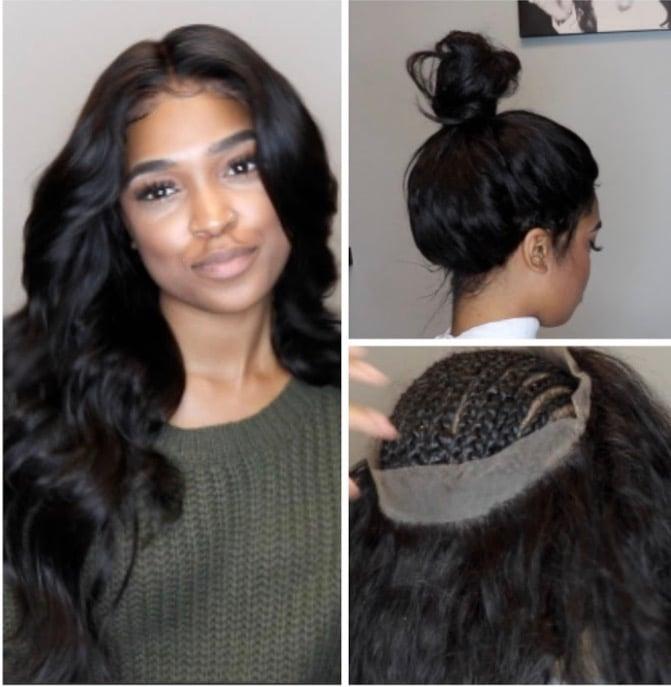 Baddie Girls Hair Brazilian Straight 360 Frontal