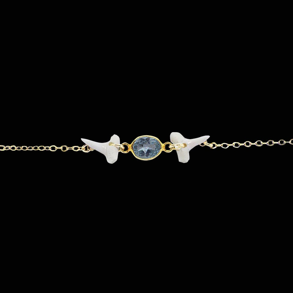 Image of Gemstone & Natural Shark Tooth Choker