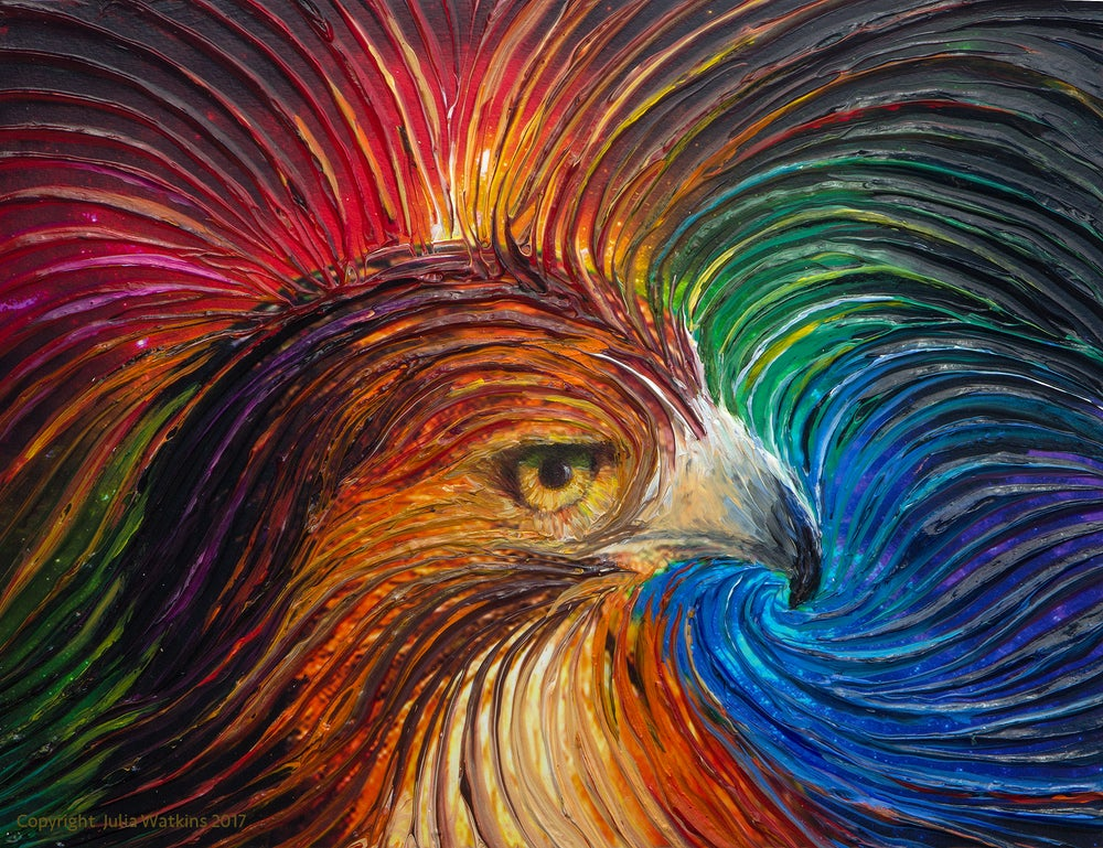 Image of Spirt Hawk Energy Painting - Giclee Print