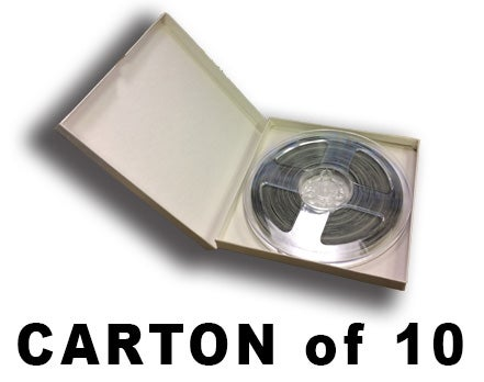 Image of CARTON of Burlington Recording 1500' White Tinted Leader Tape With Timing Marks