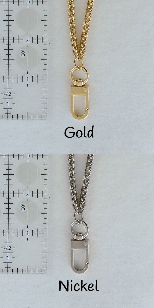 "Image of Elegant Chain Lanyard - 3/16"" (4mm) Wide - Braided Style Luxury Chain - #16C Hook - Gold or Nickel"