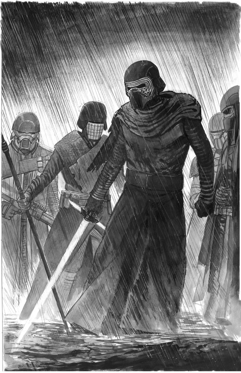 Image of The Knights of Ren - Original art +FREE KNIGHTS OF REN PRINT